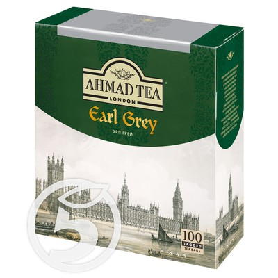 "Чай ""Ahmad"" Tea Earl Grey черный 100пак*2г"