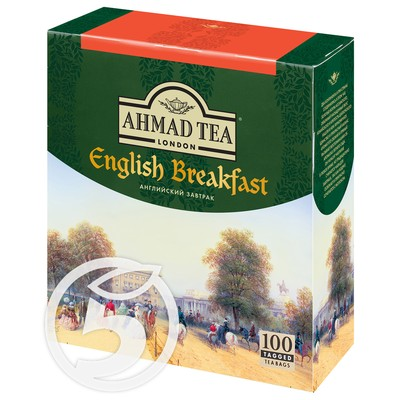 "Чай ""Ahmad"" Tea English Breakfast черный 100пак*2г"