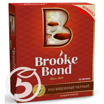 "Чай ""Brooke Bond"" черный 100пак*1.8г"