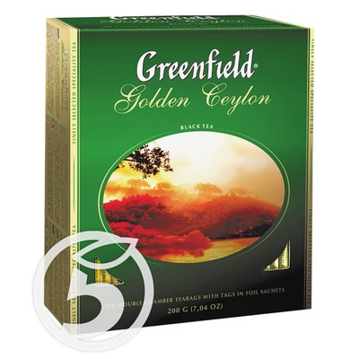 "Чай ""Greenfield"" Golden Ceylon черный 100пак"