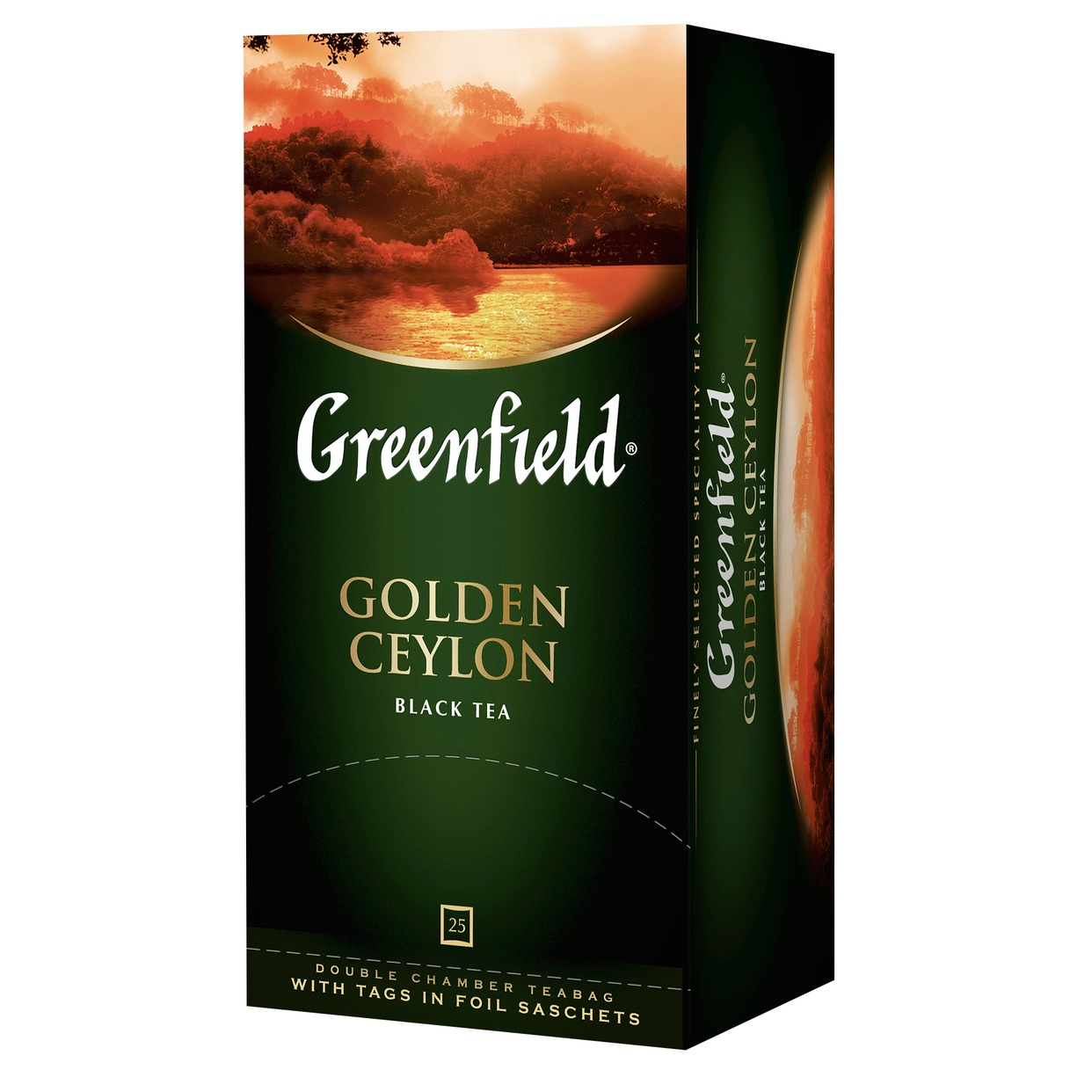 Чай Greenfield, Golden Ceylon, черный, 25х2 г