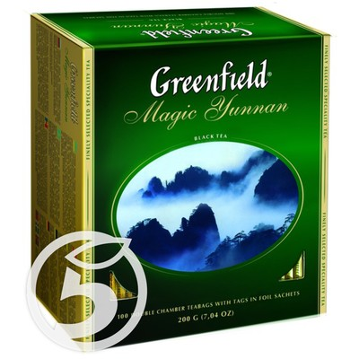 "Чай ""Greenfield"" Magic Yunnan Black 100пак*2г"