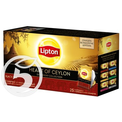 "Чай ""Lipton"" Heart Of Ceylon черный 25пак*2г"