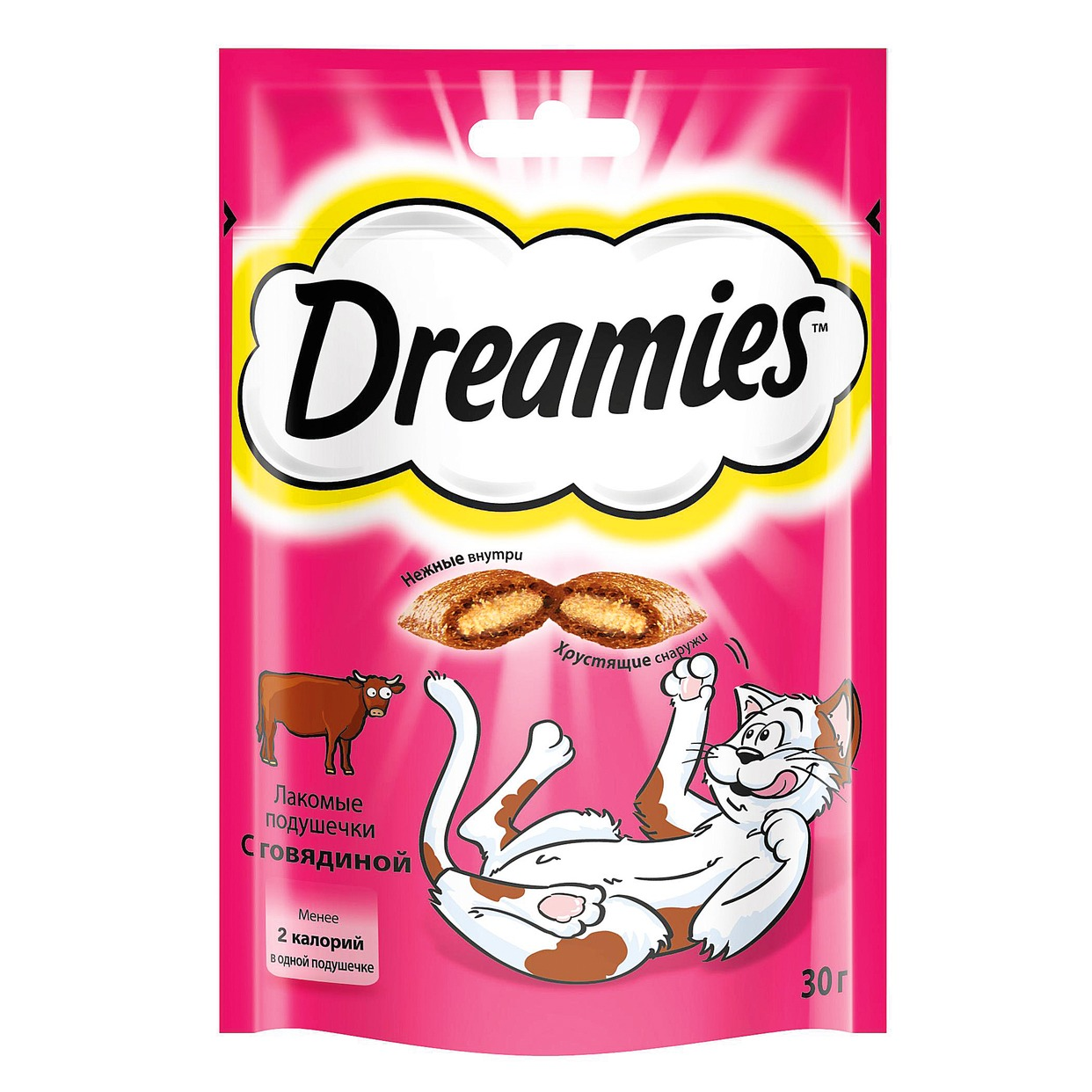DREAMIES Корм сух.д/взр.кош.с говяд.30г