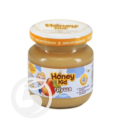 HONEY KID Пюре из груш 100г