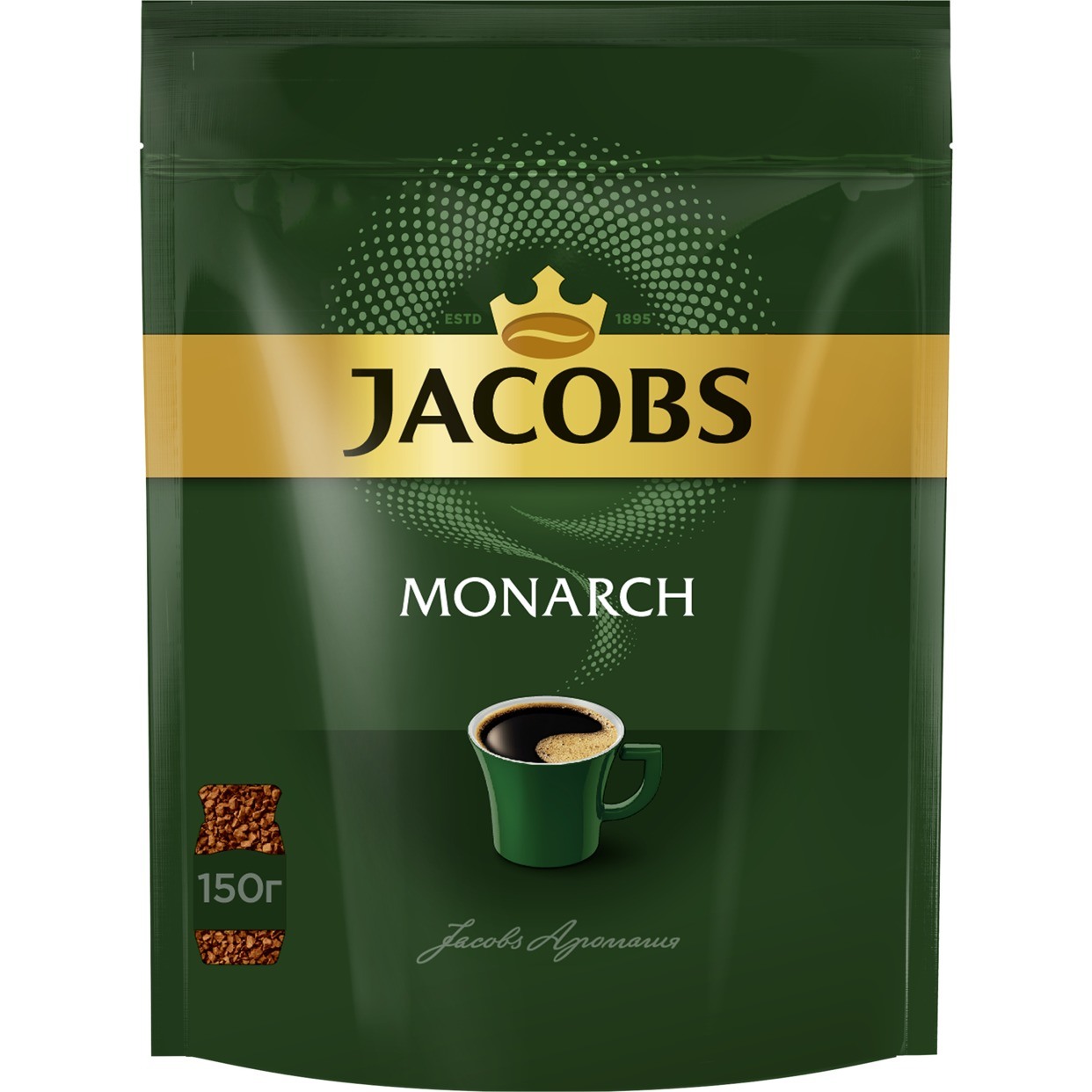 Кофе Jacobs Monarch, растворимый, 150 г