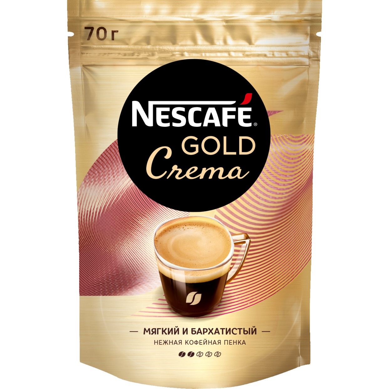 Кофе Nescafe Gold Crema, растворимый, 70 г