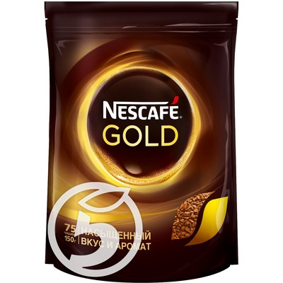"Кофе ""Nescafe"" Gold натуральный сублимированный 150г"