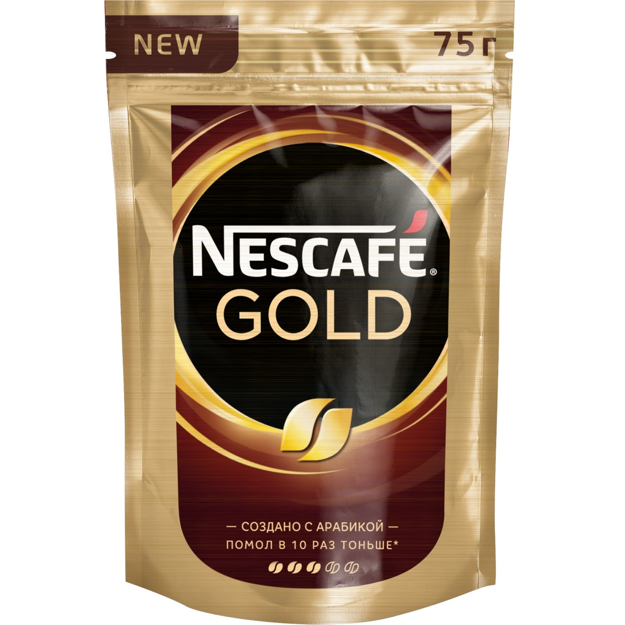 Кофе Nescafe Gold, растворимый, 75 г