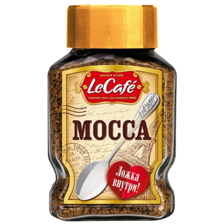 LE CAFE Кофе MOCCA раст.ст/б 95г