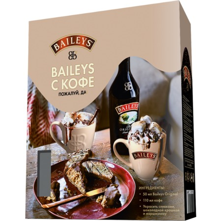 Ликер BAILEYS ORIG.IRISH CR.17% 0.7л+кр.