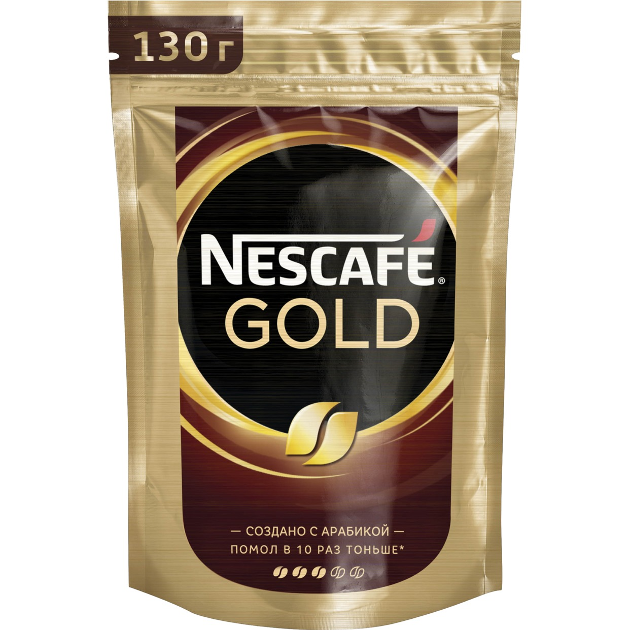 NESCAFE GOLD. НАТУРАЛЬНЫЙ РАСТВОРИМЫЙ СУБЛИМИРОВАННЫЙ КОФЕ С ДОБАВЛЕНИЕМ НАТУРАЛЬНОГО ЖАРЕНОГО МОЛОТОГО КОФЕ 130 гр