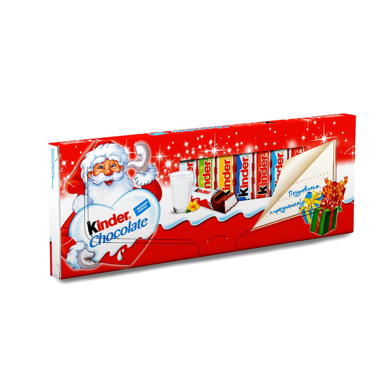 Шок.KINDER CHOCOLATE мол.с мол.нач. 150г