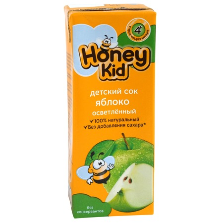 Сок Honey Kid, яблоко, 200 мл